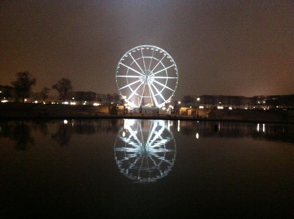La grande roue depuis le jardin des Tuileries