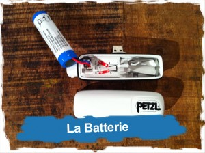Frontale Petzl Nao: la Batterie