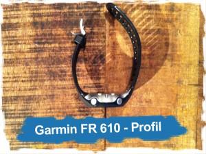 Garmin Forerunner 610: vue de profil