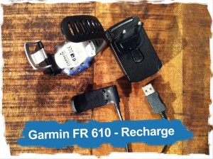 Garmin Forerunner 610: la recharge