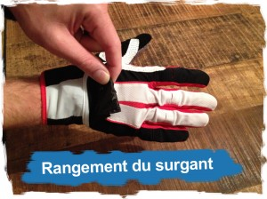 Gants X4 Performance Dynafit: rangement Surgant
