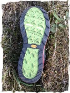 Chassures de trail New Balance Leadville MT1210: la semelle Vibram