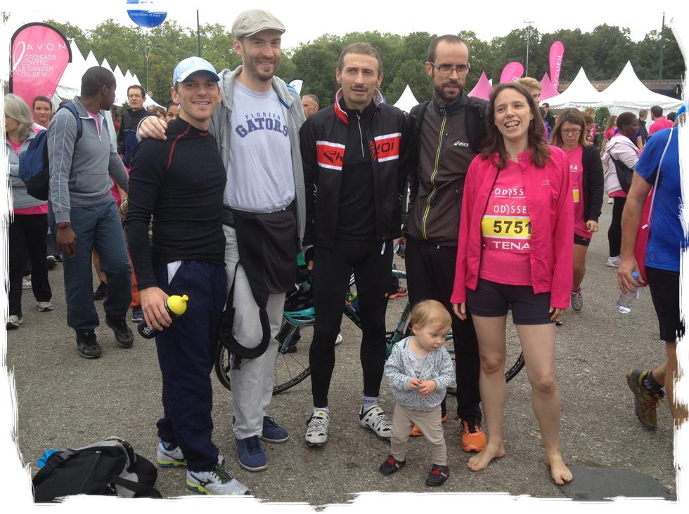 Odyssea Paris: une partie de la Team Runnosphere