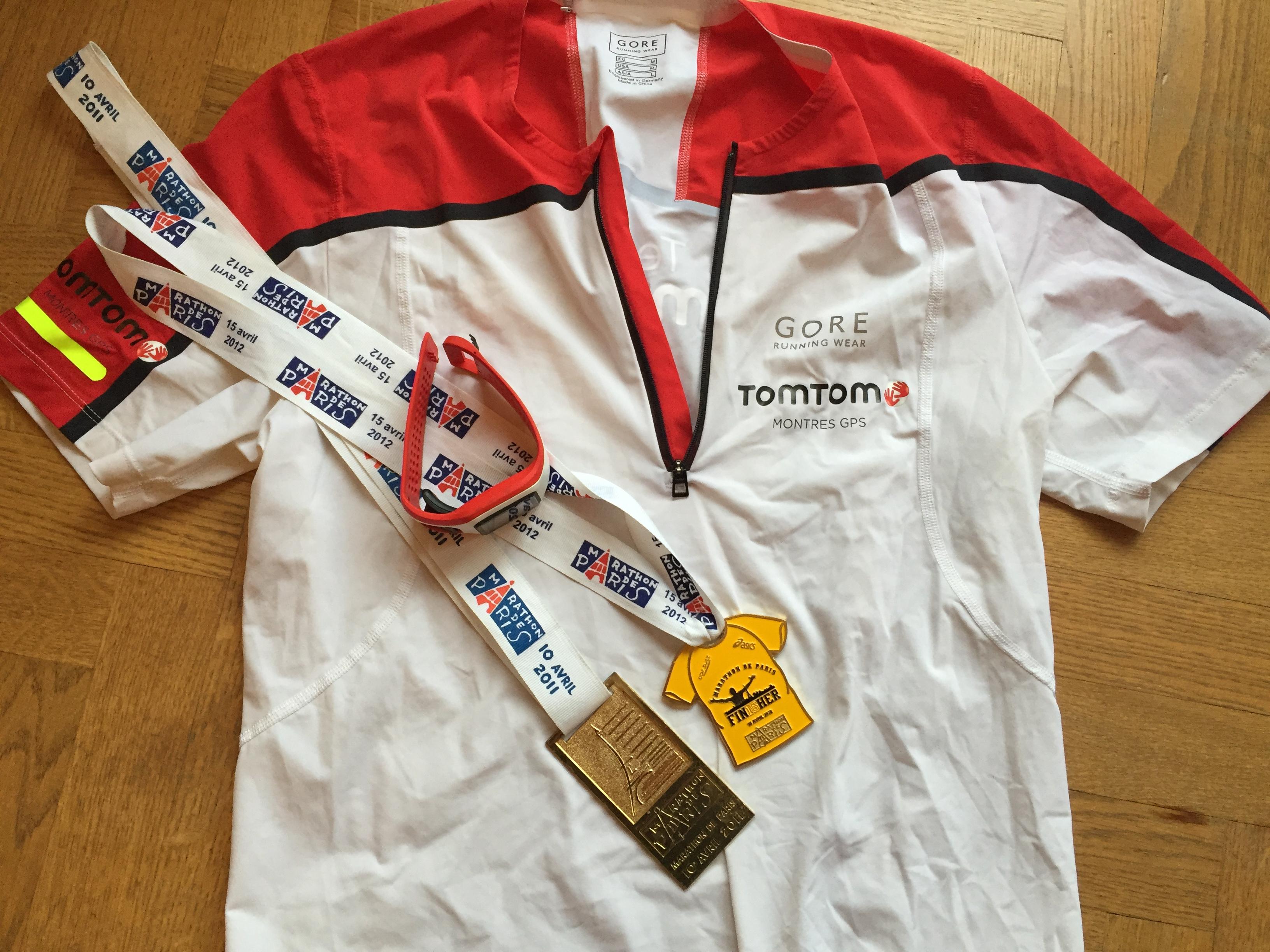 Marathonde PAris 2016 avec la Team Tomtom