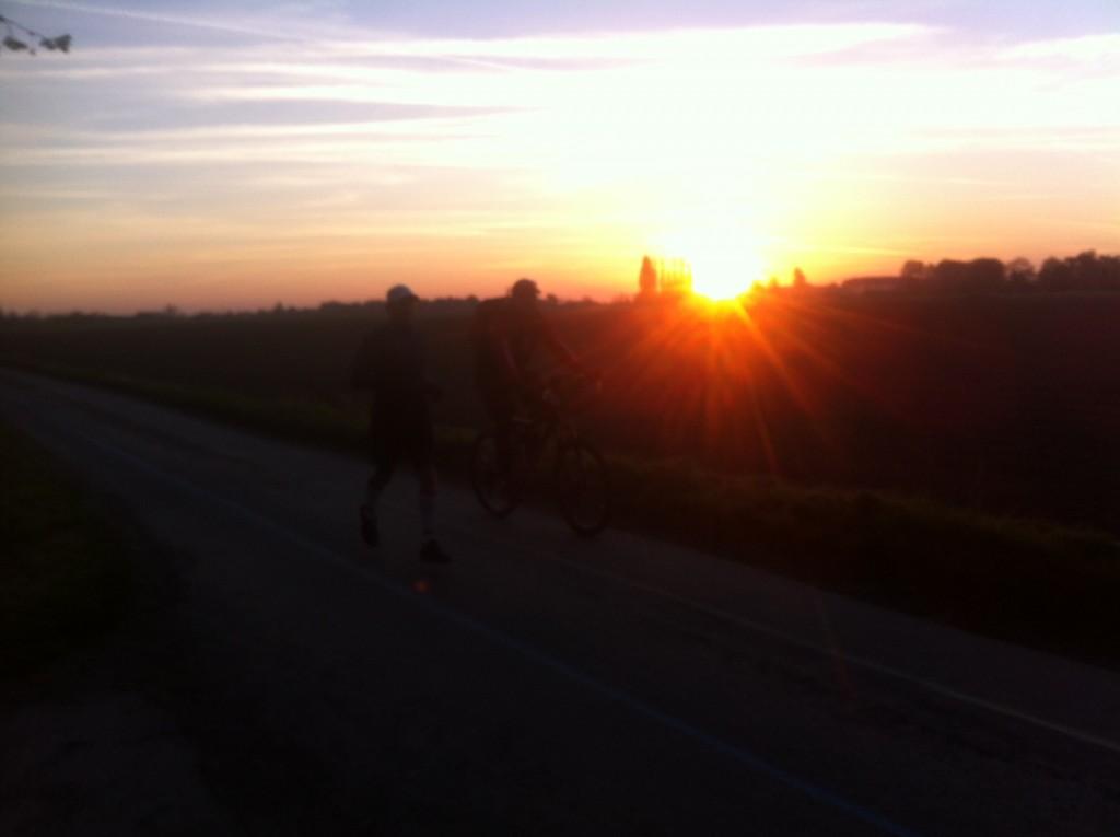100km de Steenwerck - lever de soleil