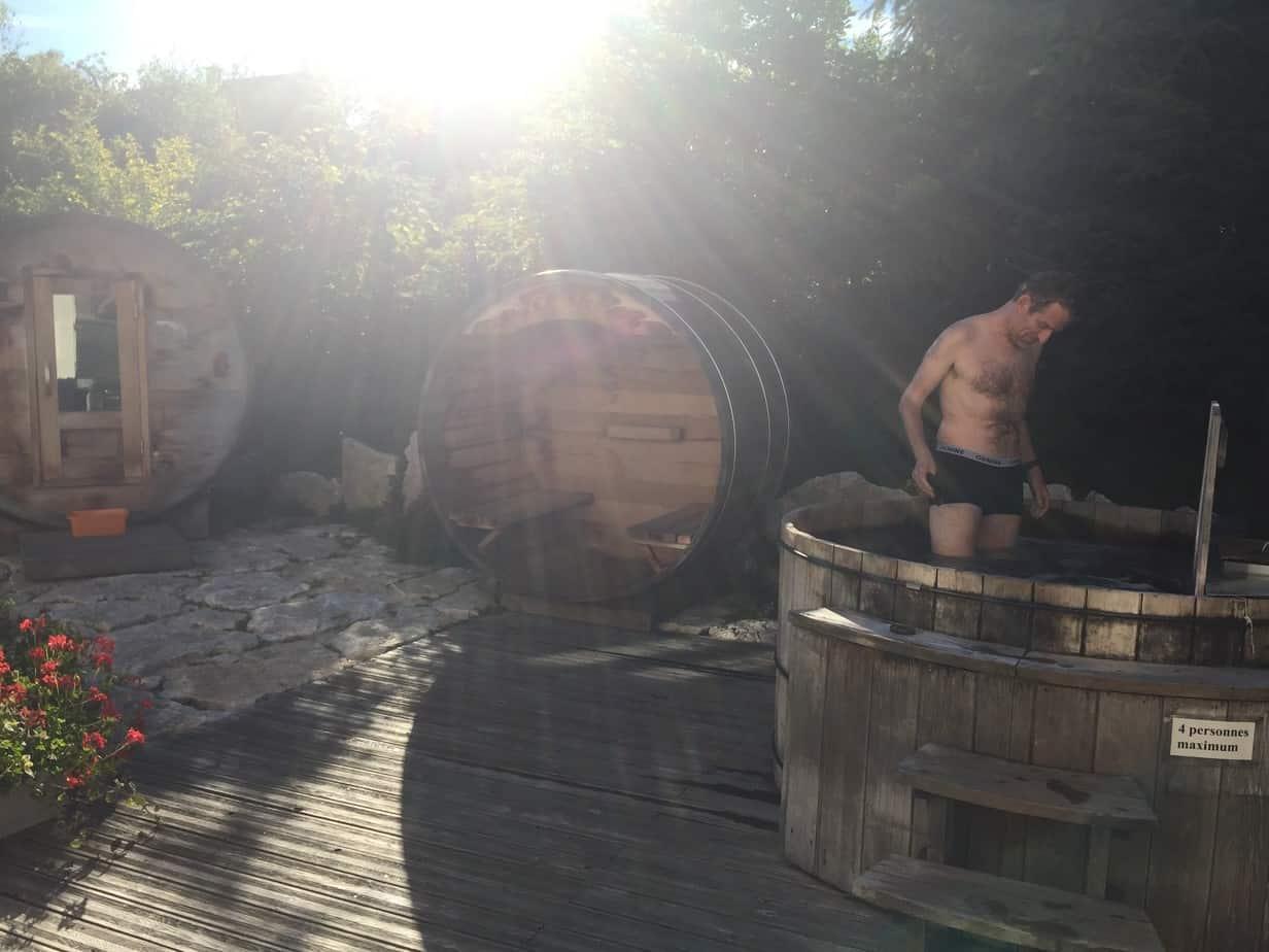 Storvatt et Sauna extérieurs d'Arcanson