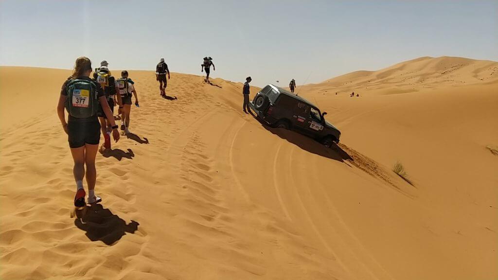 2ème étape du Marathon des Sables: au cœur des plus hautes dunes du désert marocain