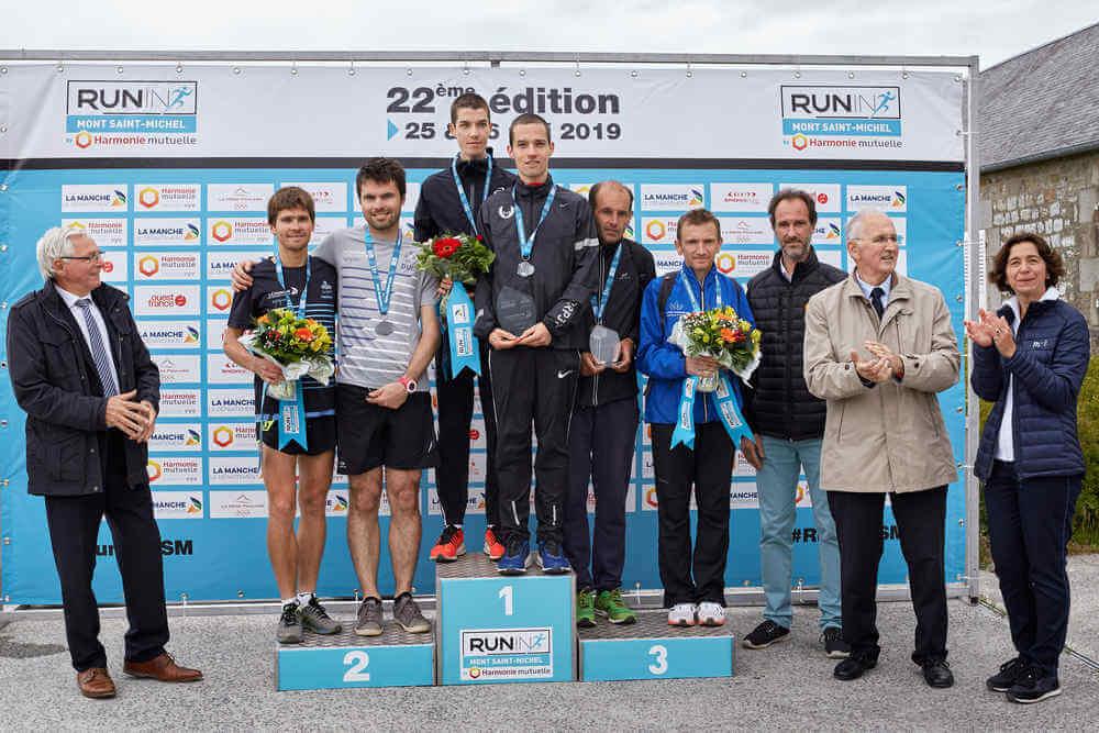 Podium du Duo-Marathon du Mont Saint-Michel 2019