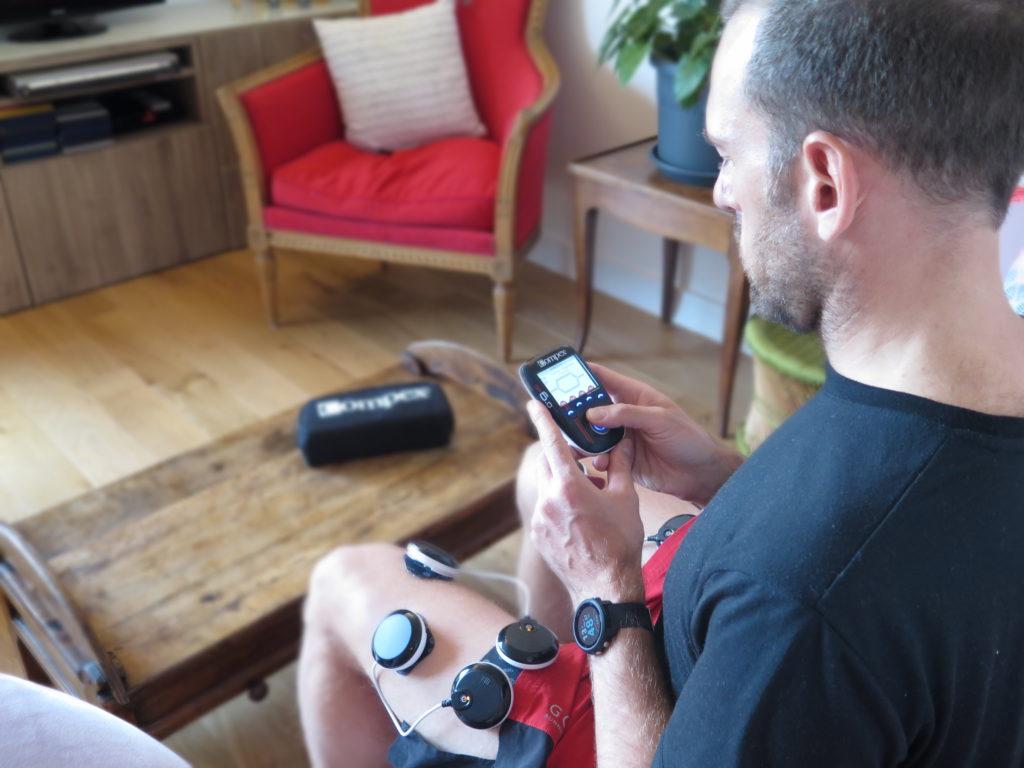Electrostimulation avec Compex SP6.0 pour la préparation à une compétition en trail ou en course à pied