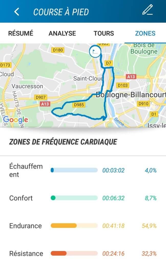 Décathlon Connect: visualisation des zones