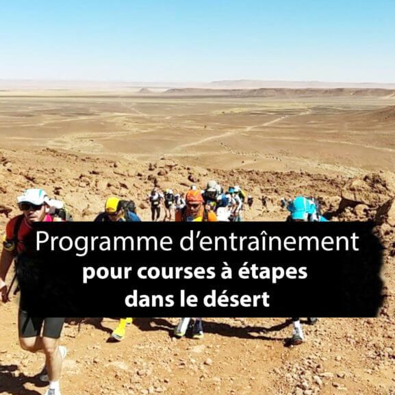 MDS - Préparation: programme d'entrainement pour une course à étape dans le désert