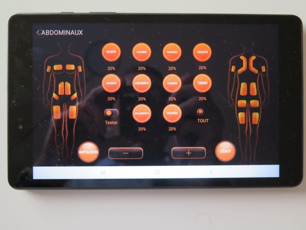L'application: l'écran de contrôle