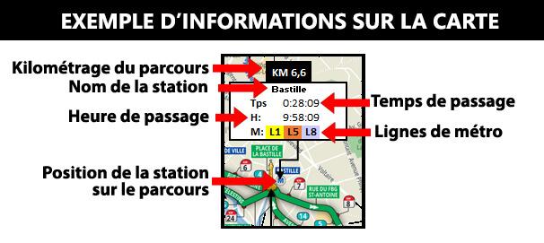 Kit du supporter du marathon de Paris: infos sur la carte duparcours